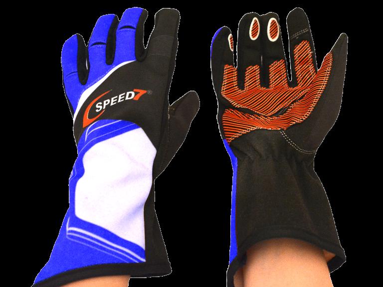 Speed7 Karthandschuh Pro blau