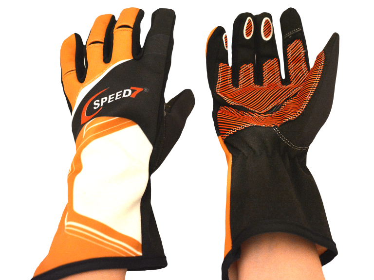 Speed7 Karthandschuh Pro orange